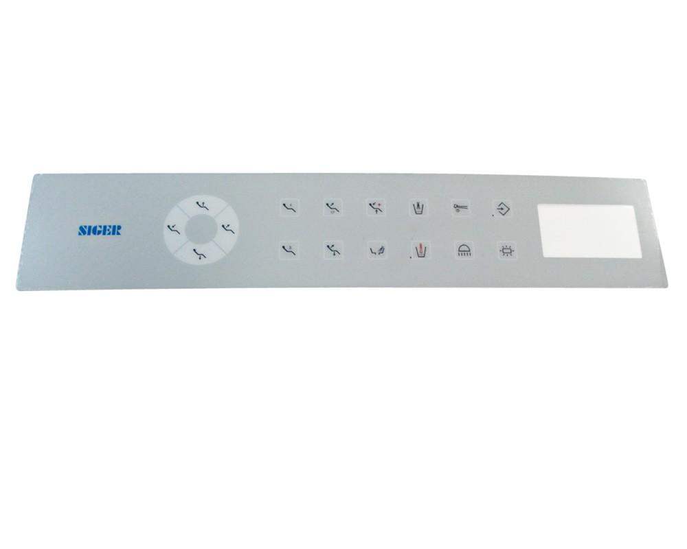 Стоматологическая запчасть - Наклейка к сенсорной плате управления блока врача с нижней подачей Siger S30, S60
