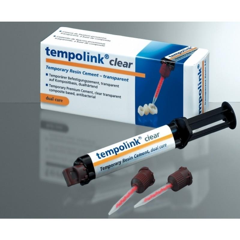 Цемент для временной цементировки коронок Tempolink Clear (1 шт. 5 мл)