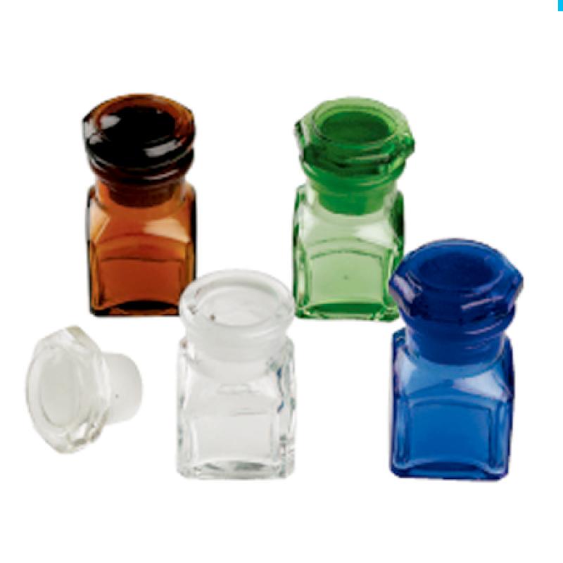 Емкость стеклянная для стоматологических жидкостей с крышкой квадратная Medicament Bottles (Square)