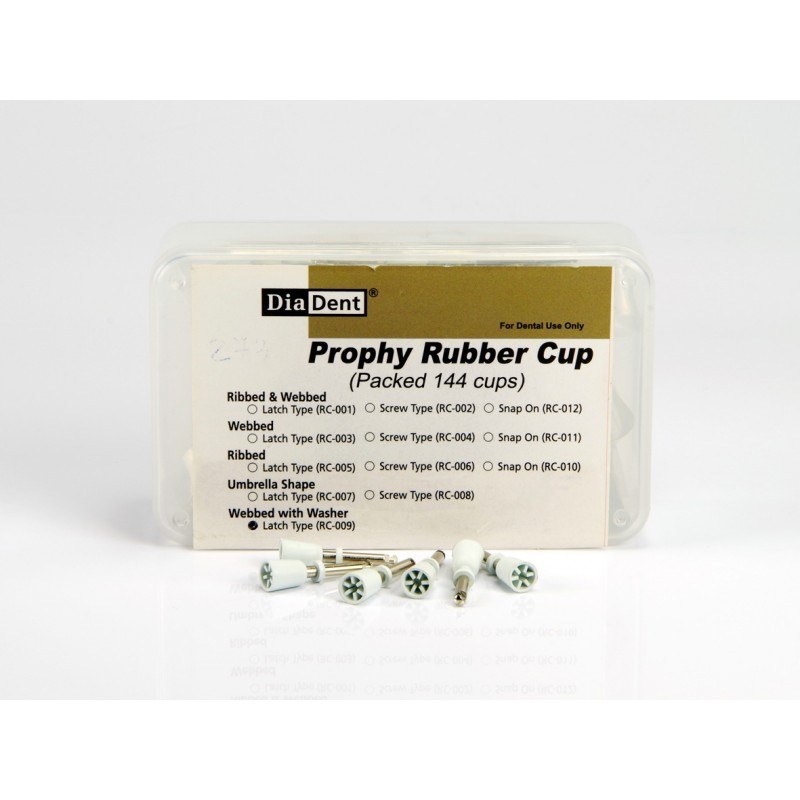 Полиры Prophy Rubber Cup Webbed with Washer Latch Type (144 шт.)