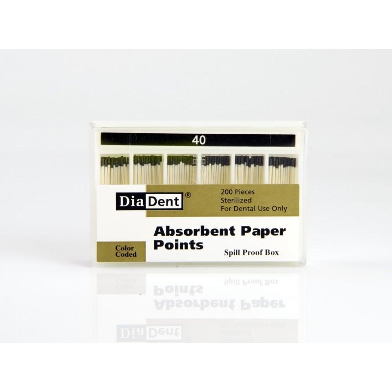 Штифты абсорбирующие бумажные стоматологические для просушки каналов Absorbent Paper Points (200 шт.)