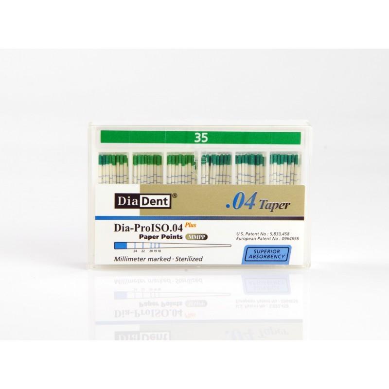 Штифты стоматологические абсорбирующие бумажные с миллиметровой маркировкой Plus Paper Points MMPP (100 шт.)