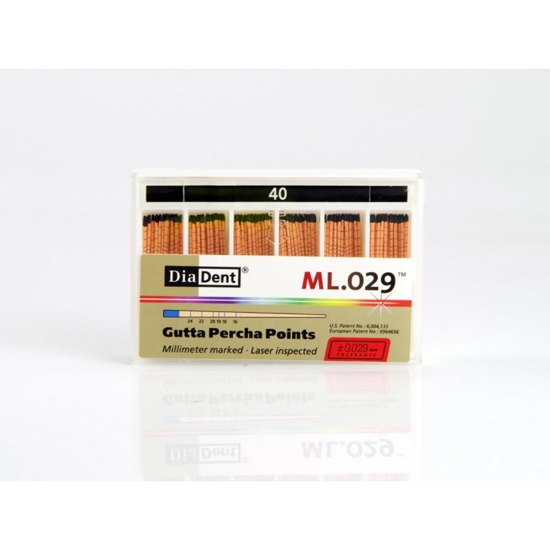 Штифты стоматологические гуттаперчевые с миллиметровой маркировкой Gutta Percha Points ML.029 (120 шт.)