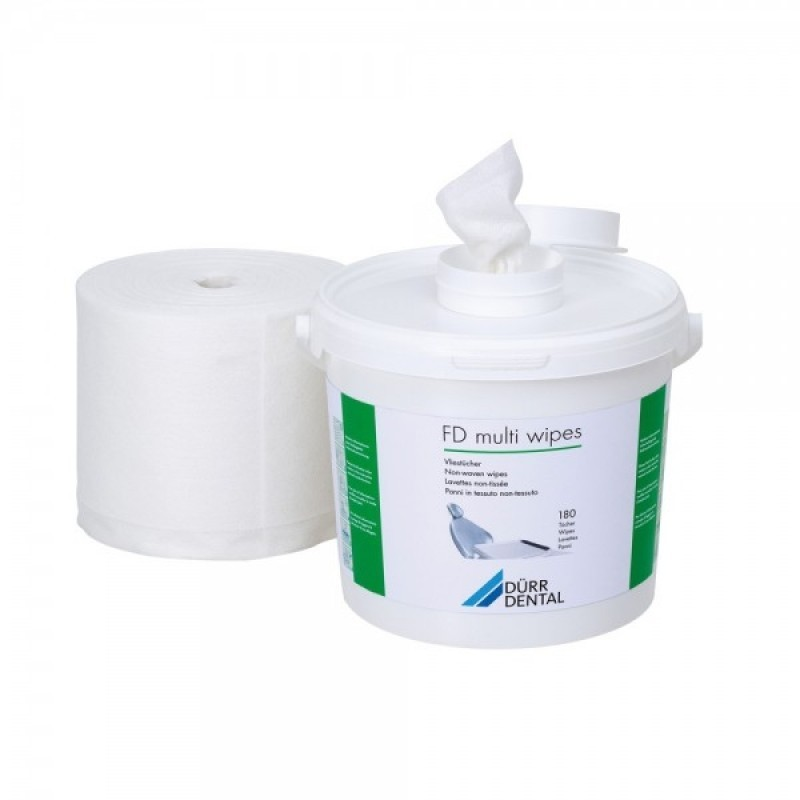 Cалфетки сухие для самообработки FD multi wipes (ведро + салфети 180 шт.)