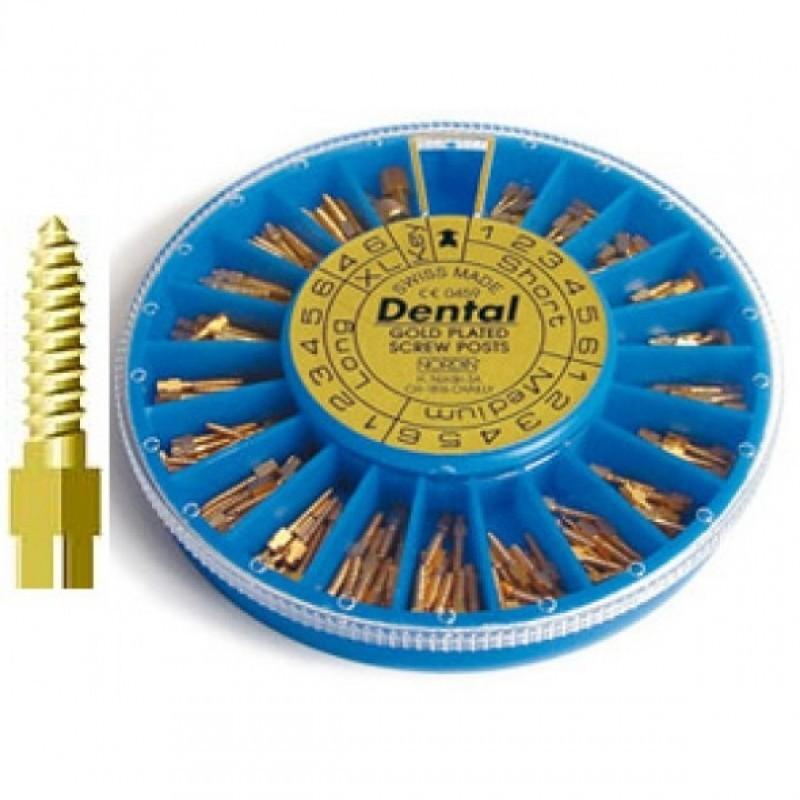 Штифты позолоченные анкерные Dental (12 шт.)