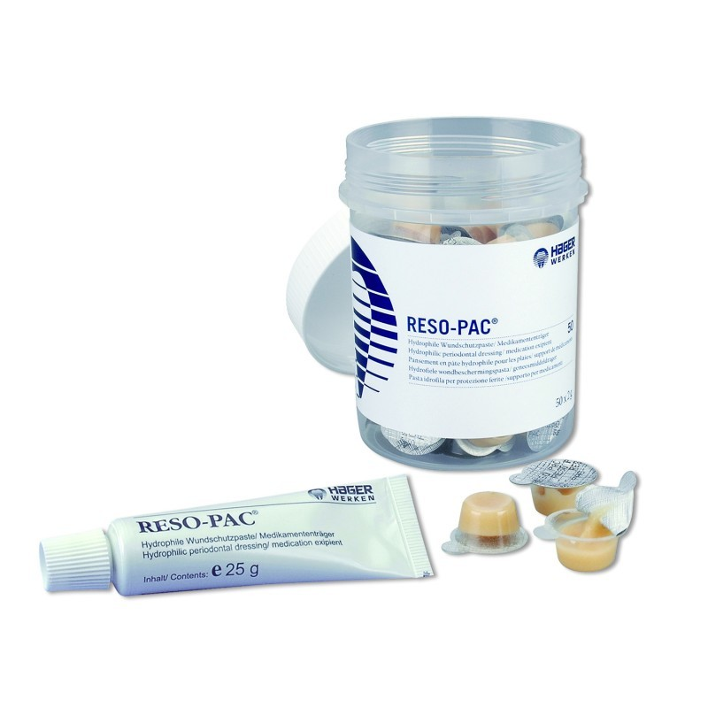 Повязка периодонтальная саморассасывающаяся для изоляции ран и стабилизации швов в полости рта Reso-Pac (50 унидоз по 2 г)
