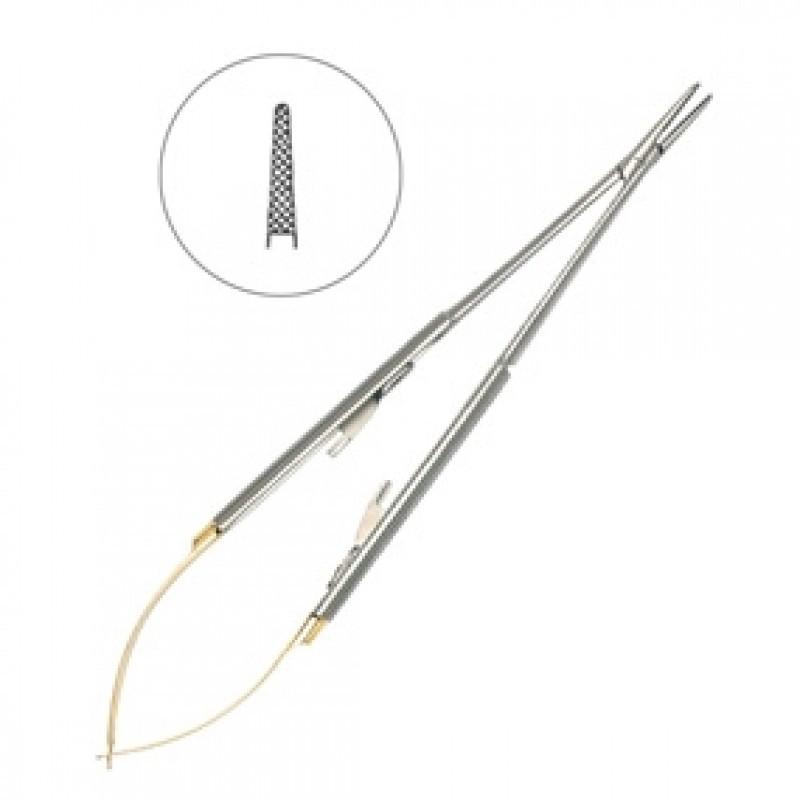 Иглодержатель микрохирургический прямой Micro-Nadelhalter TC 18 см 40-47