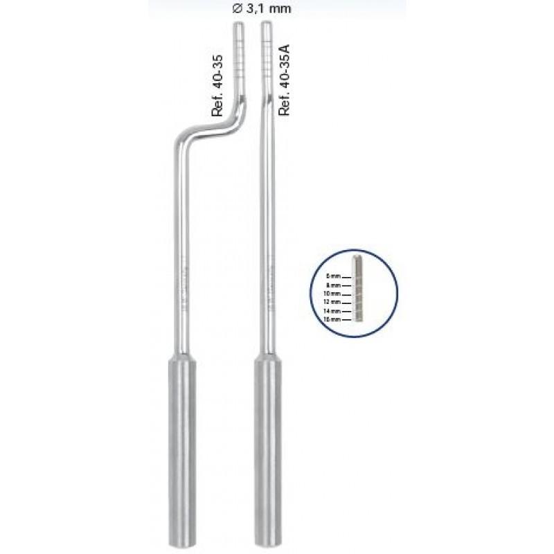 Остеотом изогнутый c выпуклым кончиком Bajonett 6-8-10-12-14-16 мм
