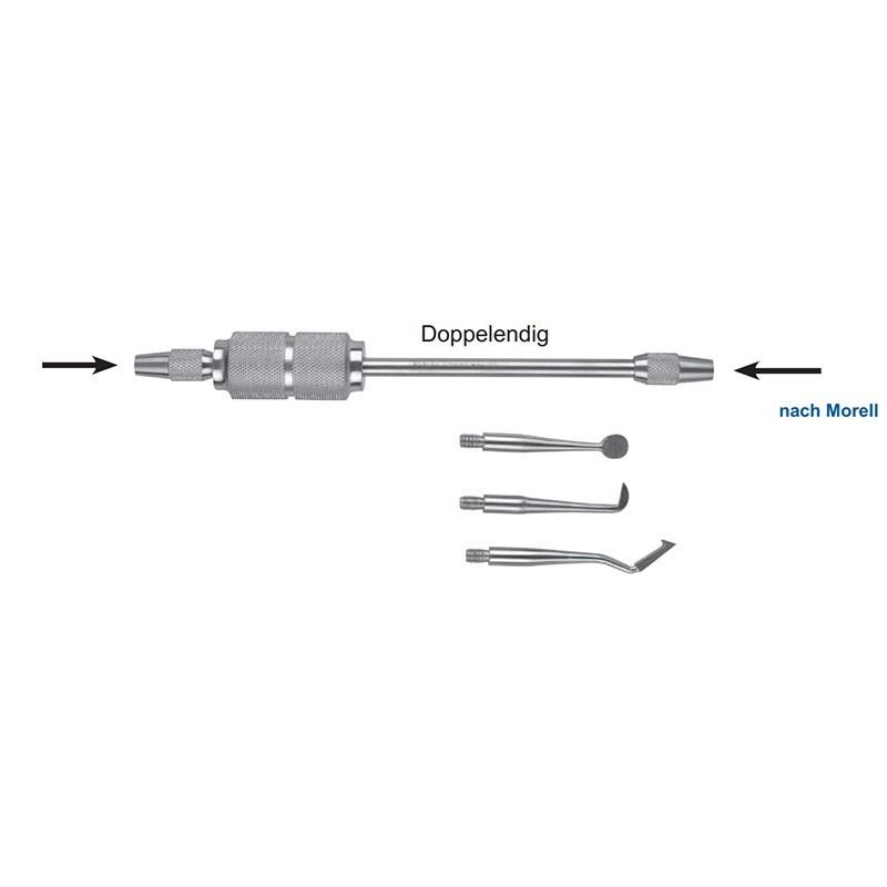 Коронкосниматель двусторонний ручной nach Morell 16-5 (комплект с 3 насадками)