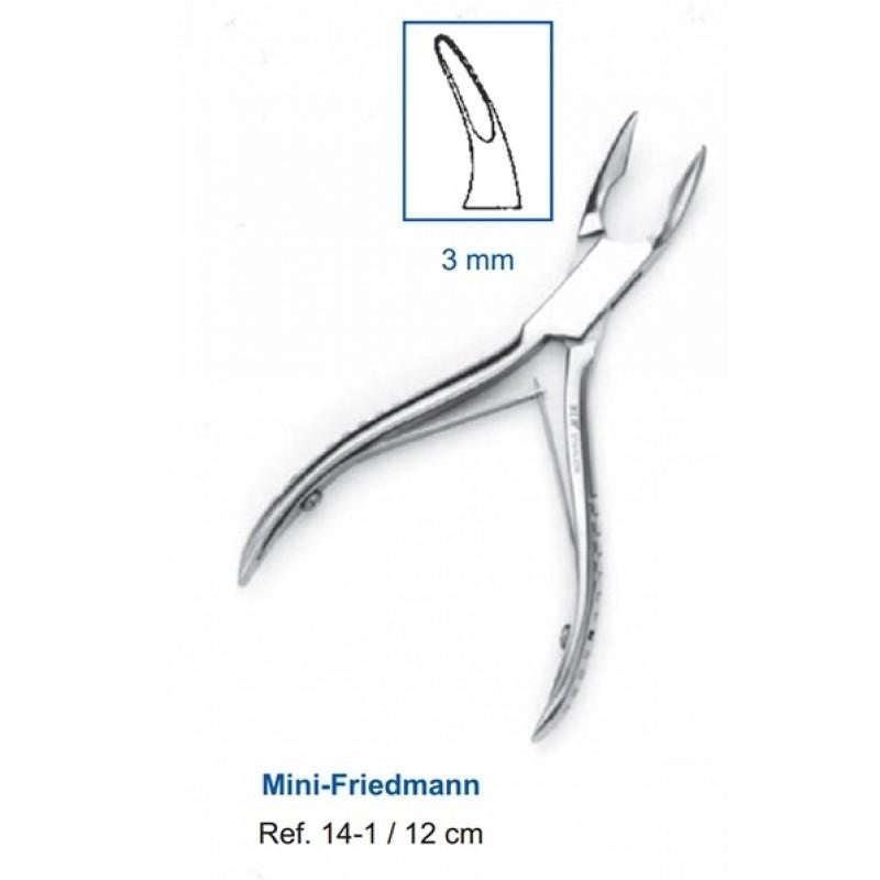 Кусачки костные Mini-Friedmann 12,0 см (рабочая часть 3 мм) 14-1