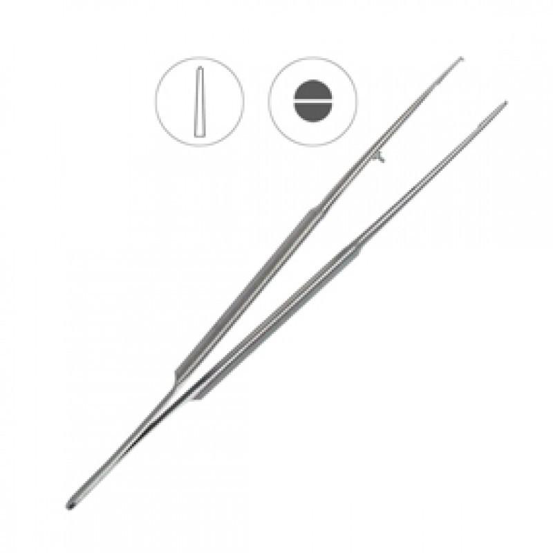 Пинцет микрохирургический анатомический прямой 180 мм 40-44A