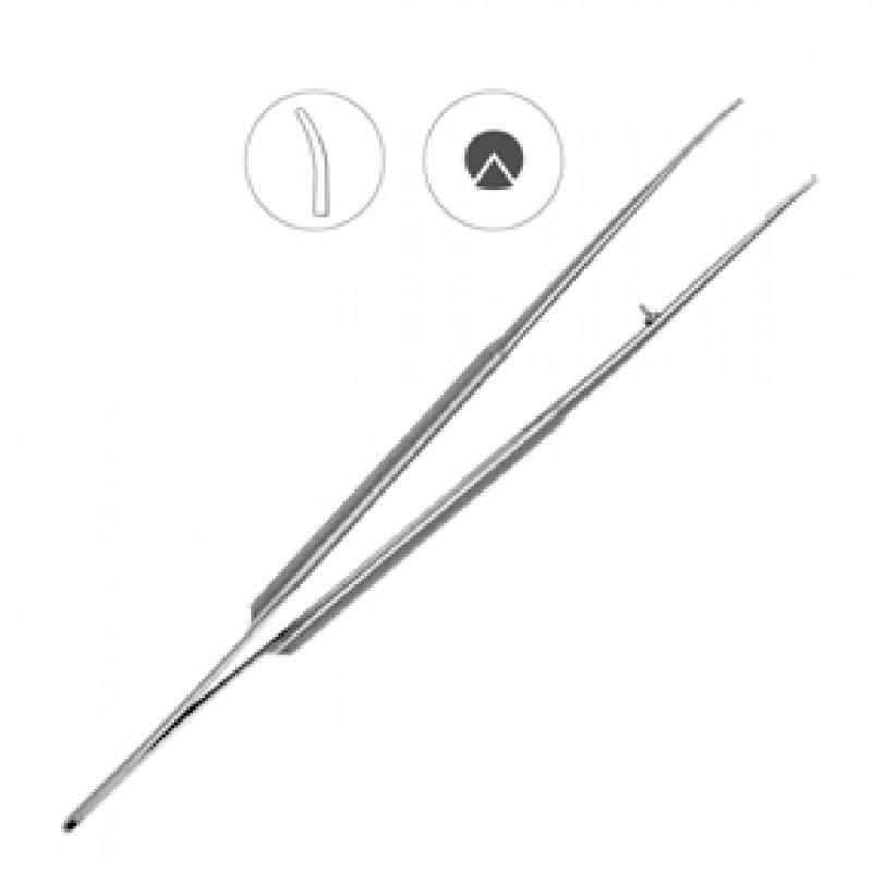 Пинцет микрохирургический изогнутый 180 мм 40-45