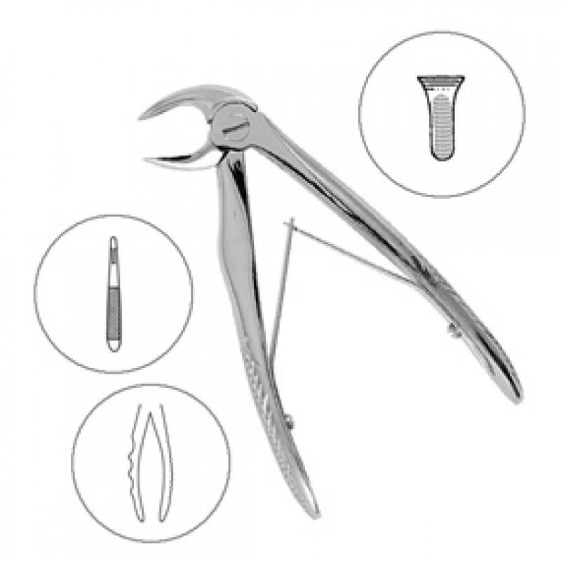 Щипцы для удаления детских нижних корневых зубов 7B