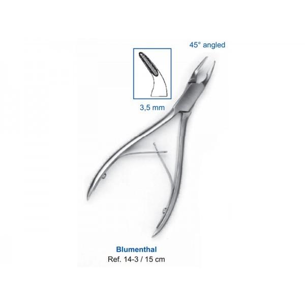 Кусачки костные Blumenthal, 15см, 3,5мм, 45° угол рабочей части