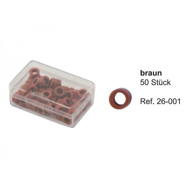 Маркировочные кольца, коричневые (упаковка 50 шт)