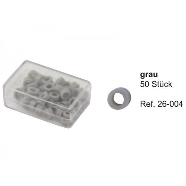 Маркировочные кольца, серые (упаковка 50 шт)