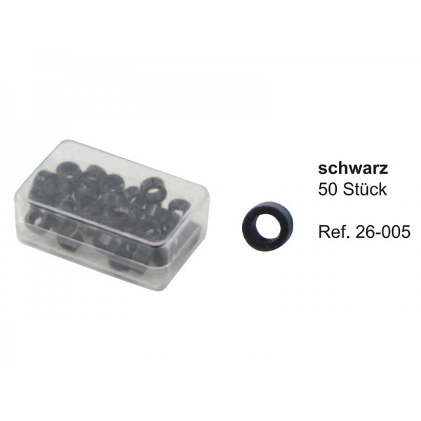 Маркировочные кольца, черные (упаковка 50 шт)