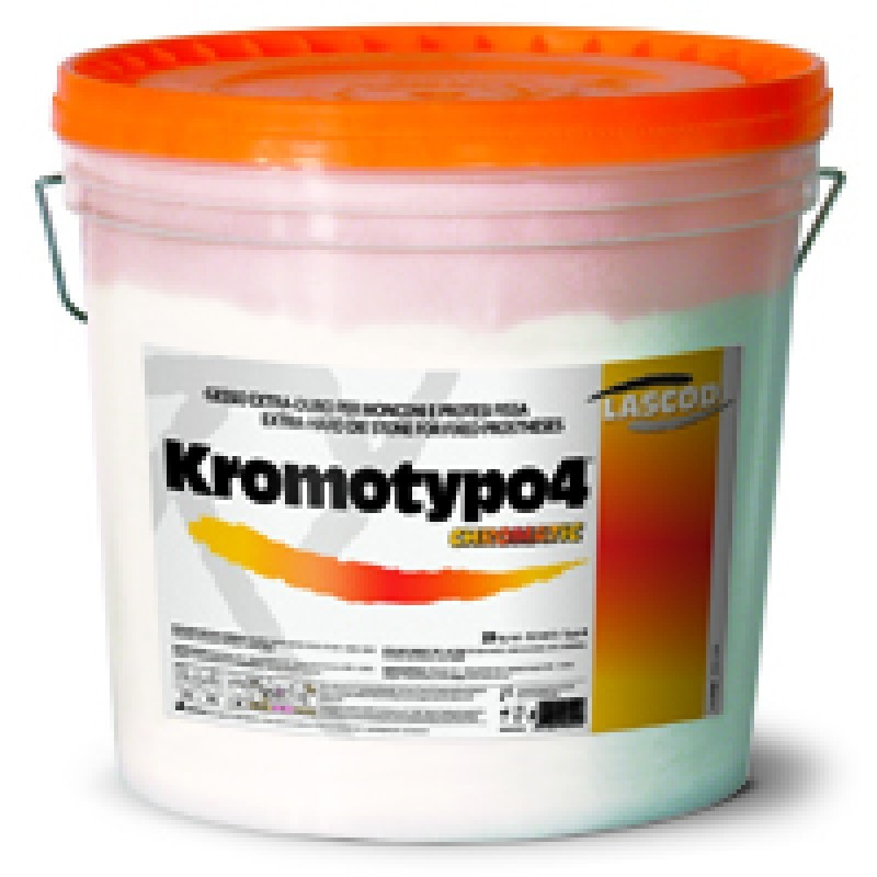 Супергипс 4 класса с цветовой индикацией фаз (желтый-розовый-желтый, Kromotypo 4, 6 кг)