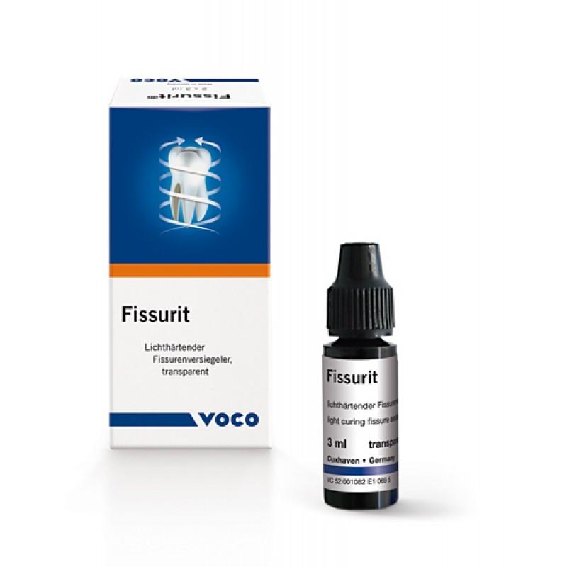 Герметик фиссур светоотверждаемый прозрачный Fissurit (2 флакона по 3 мл)