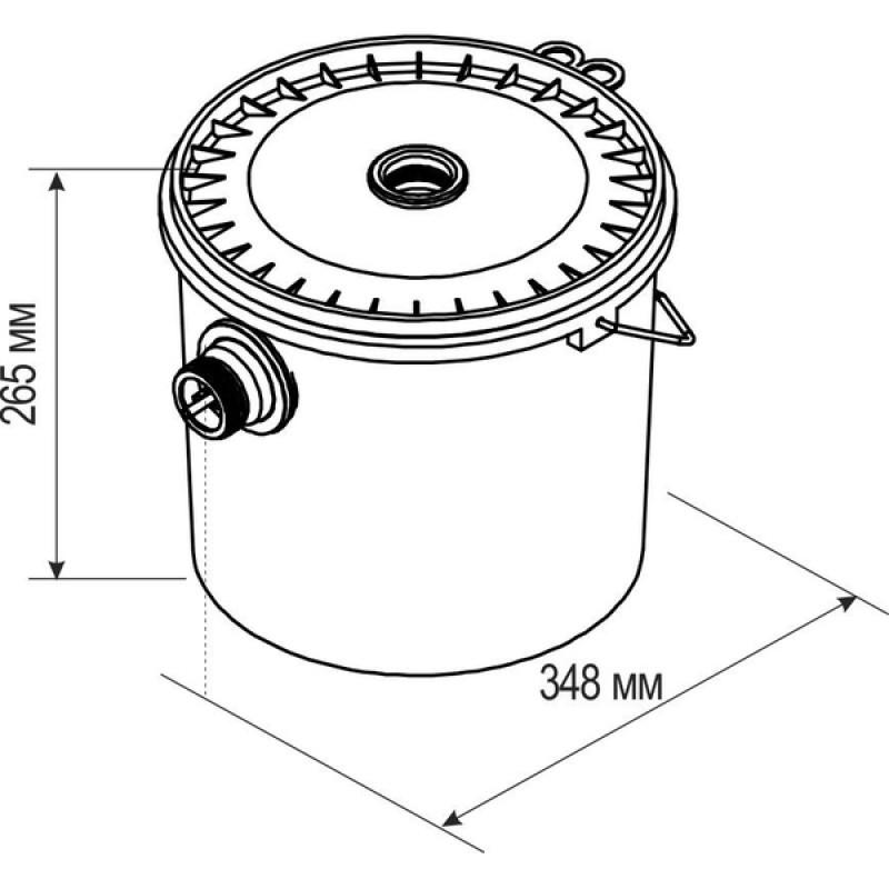 Отделитель гипса проточный ОГП 2.0 Мини (гипсоотстойник 15 л)