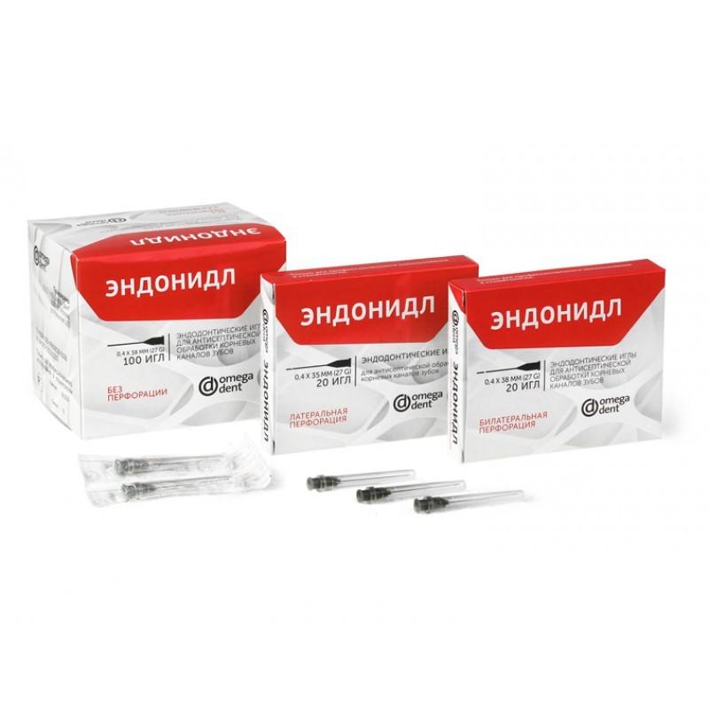 Иглы эндодонтические для антисептической обработки каналов Эндонидл (100 шт.)