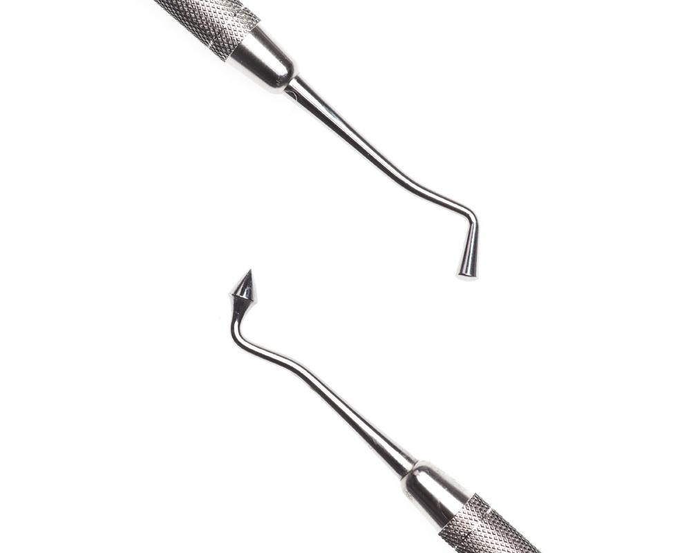 Стоматологический инструмент - (Штопфер-Барнишер) Инструмент для амальгамы J (N1582-H, N1570-O, N1548-R)