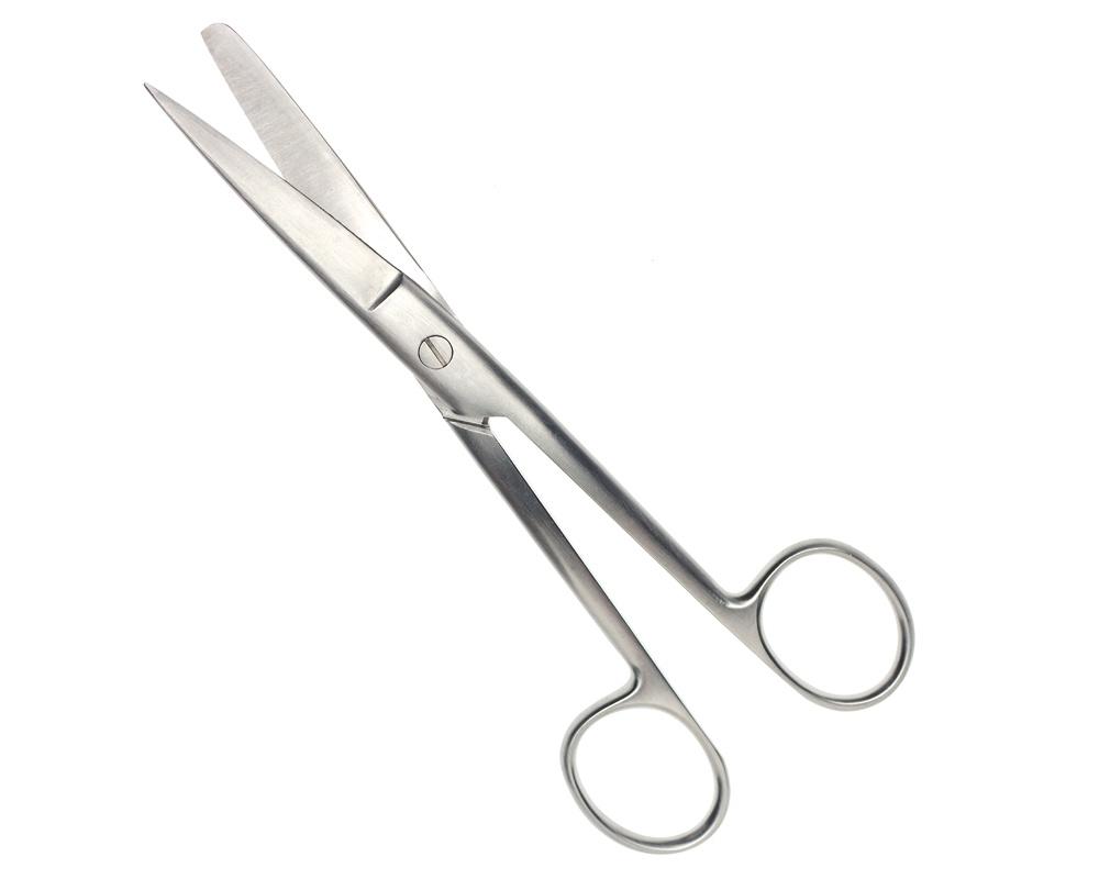 Стоматологический инструмент - Ножницы для перевязочного материала, 15 см (N0917-BL/SH), Nova