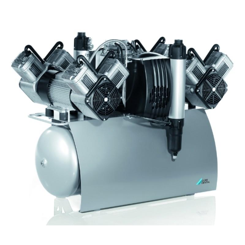 Компрессор безмасляный с осушителем и одним агрегатом Quattro Tandem (210 л/мин)