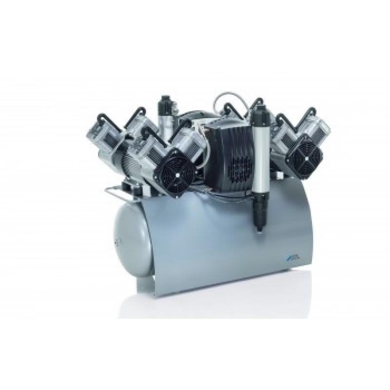 Компрессор безмасляный с осушителем и двумя агрегатами Quattro Tandem (420 л/мин)