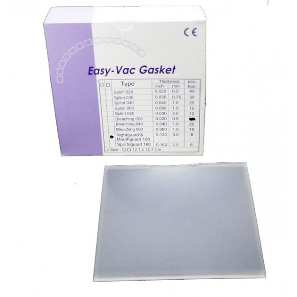 EV Gasket Mouthguard 120 - пластины квадратные, толщина 3,00 мм (8 шт.)