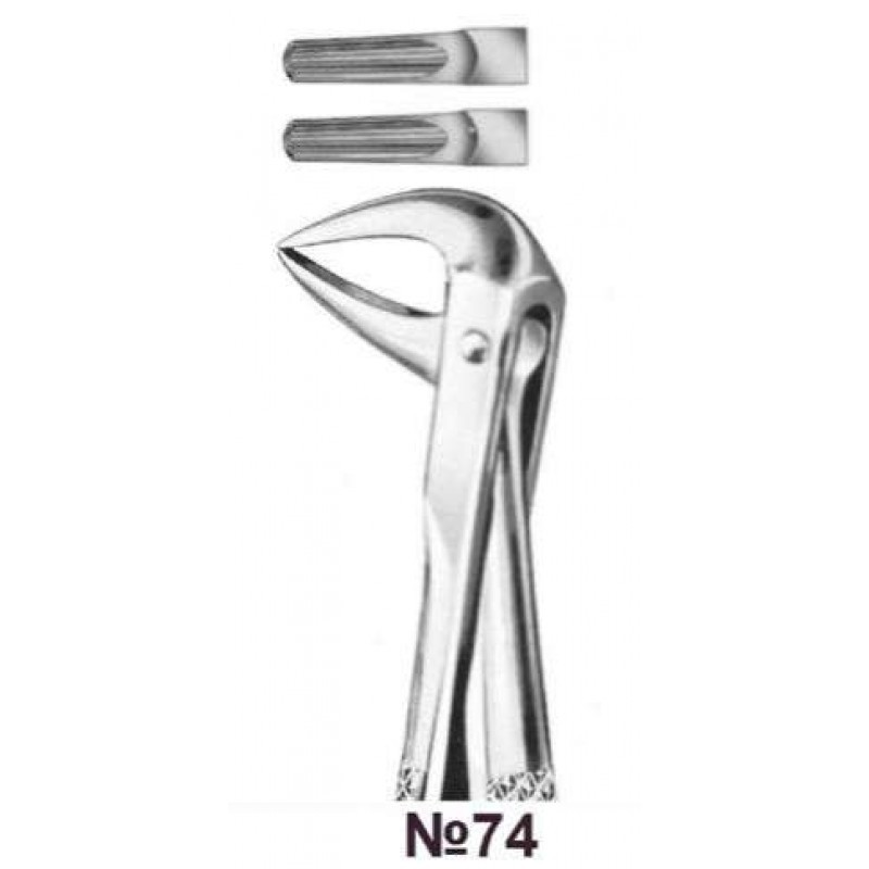 Щипцы для удаления нижних корней зубов № 74