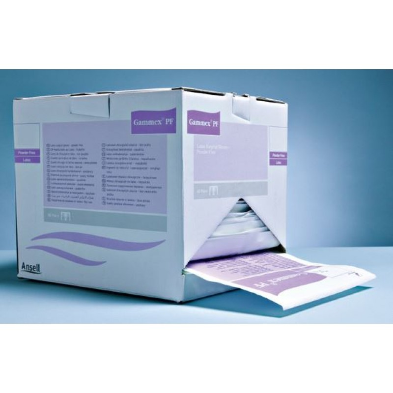Перчатки латексные хирургические стерильные неопудренные Gammex PF (1 пара)