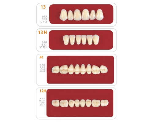 Наборы зубов Unicryl 2-х слойные